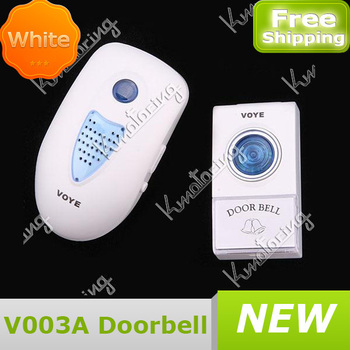 White Alarm wrieless Home Cordless Control Security Melody door bell FREE SHIPPING