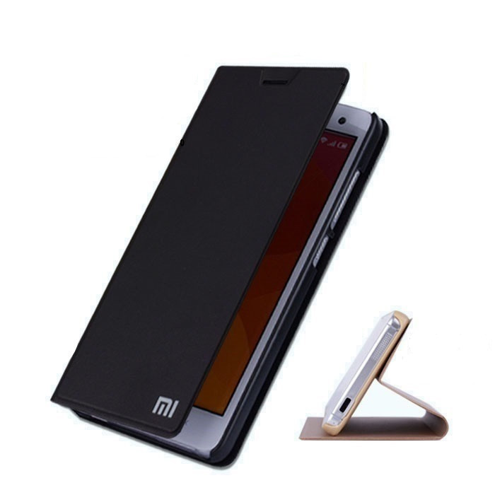 New arrival PU Leather Smart Flip Cover For Xiaomi mi5 Case With Stand Original xiaomi M5 Fundas Mobile Phone Bags Accessories(China (Mainland))