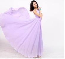 2016 news summer loose A-line largest hem bohemian chiffon dress women's Classy X-long beach dress 12 colors with belt(China (Mainland))