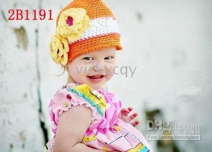 Cotton Crochet Hat Cap Beanie Baby Mixed style hot Toddler Girl hats--DYQ211 - - Handmade