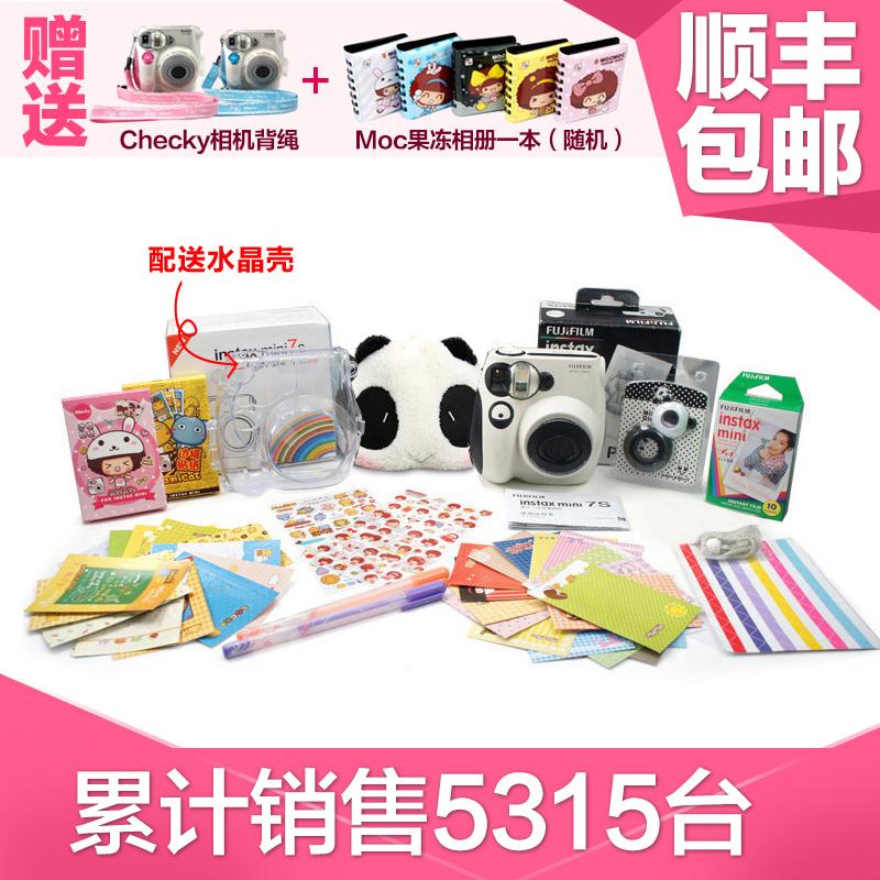 free shipping ! original Fuji once imaging polaroid camera mini7s set bakufu clearshot ,in stock(China (Mainland))
