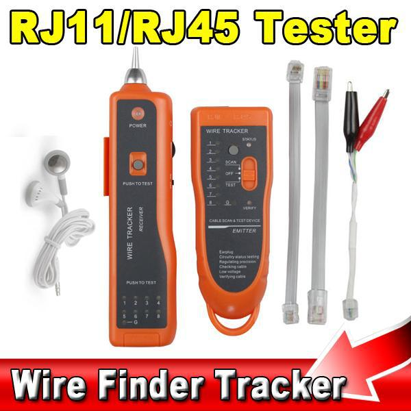 2015 High Quality RJ11 RJ45 Cat5 Cat6 Telephone Wire Tracker Tracer Toner Ethernet LAN Network Cable Tester Detector Line Finder(China (Mainland))