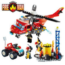 GUDI Fire Fighting Series Building Blocks Truck Compatible with Legoe Education Enlighten DIY Toys Gift for Children 9213~9215(China (Mainland))