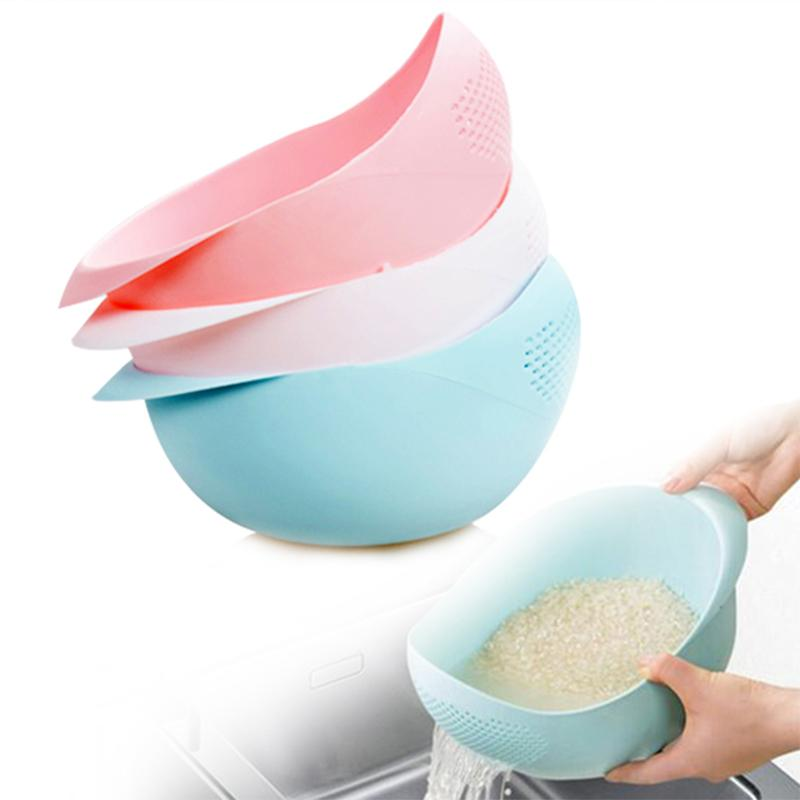 1pc Rice Washing Tools Sieve Super Practical Kitchen plastic drain vegetable basket Wash Colander Strainer Cooking Tools S2(China (Mainland))