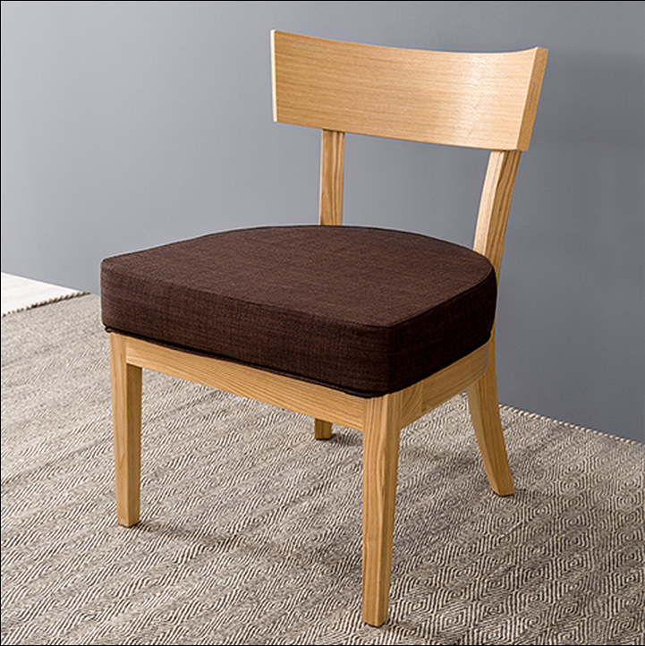 modern simple dining chair coffee chair cloth art chair With simple wood dining room chairs