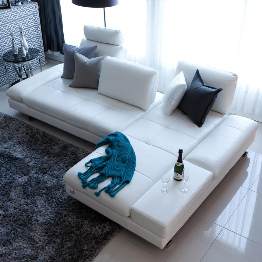 Compra sof s de cuero esquina online al por mayor de china - Sofas en esquina ...