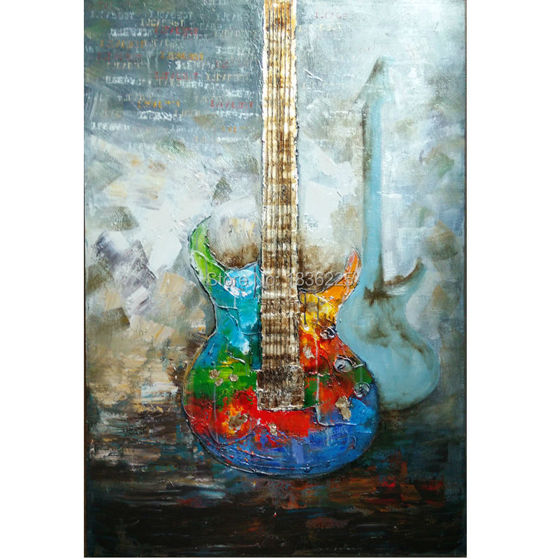 promotion oil painting guitar