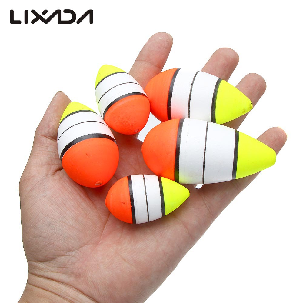 5Pcs Fishing Floats Set Fishing Accessory 5 In 1 Set Different Shape Size Fishing Float For Different Fishing Environment(China (Mainland))