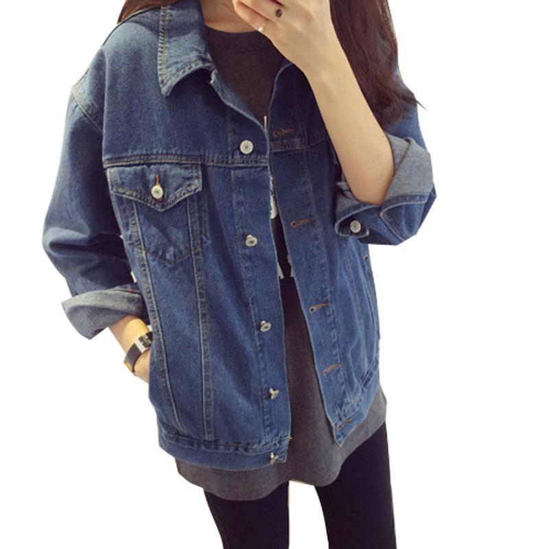 Uwback 2016 New Brand Oversized Denim Jacket Women Jeans Loose BF Coats Woman Long Sleeve Denim ...