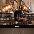 Loft Retro Pendant Lights Industrial Wrought Iron Pendant Lamps Cafe Restaurant Suspension Luminaire Light L750mm Free