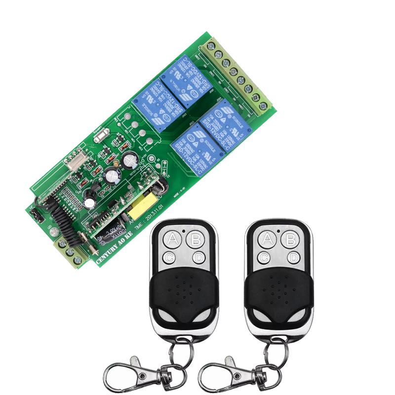 AK-RK04SE-220 85v~250V 110V 220V 230V 4CH RF Wireless Remote Control Relay Switch Receiver Security System Garage Doors(China (Mainland))