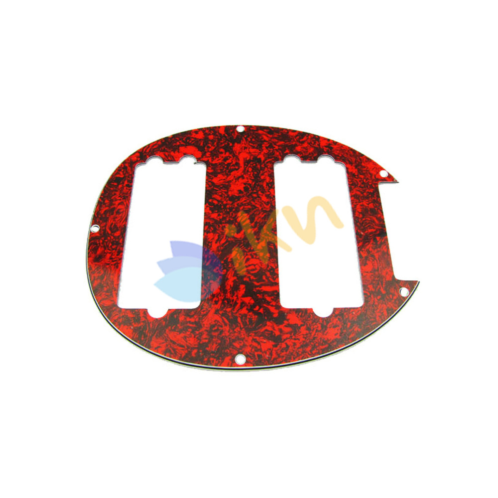 NEW Red Tortoise Humbucker HH Pickguard Plate for 5 String Music Man Style Electric Bass(China (Mainland))