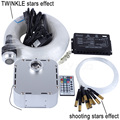 32W RGB 28key RF remote TWINKLE LED Fiber Optic Star Ceiling Light Kit 400pcs 0 75