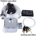 32W RGB 28key RF remote TWINKLE LED Fiber Optic Star Ceiling Light Kit 400pcs 0 75