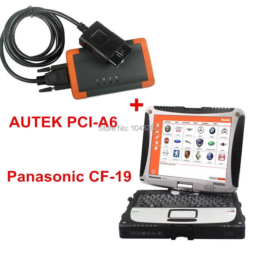 Autek PCI A6 Key Programming, EPB Update Online English/Spanish OBD2 Code Reader Professional Automotive Tool+Panasonic CF-19<br><br>Aliexpress