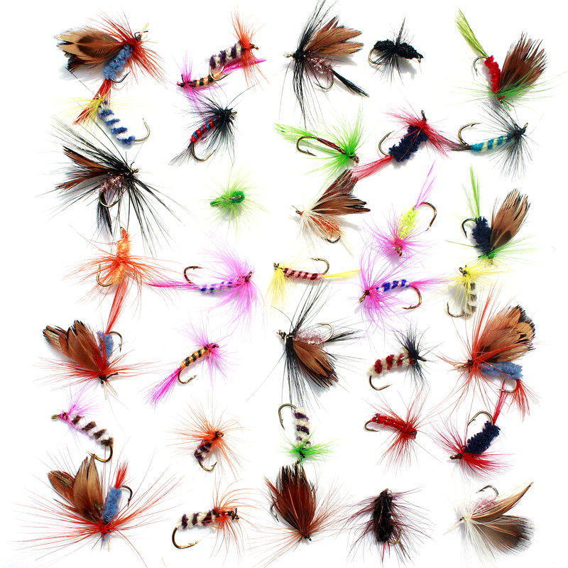 36pcs Lures Promotion Fly <font><b>fishing</b></font> Hooks Butterfly Insects Style Salmon Flies Trout Single Dry Fly <font><b>Fishing</b></font> Lure <font><b>Fishing</b></font> Tackle