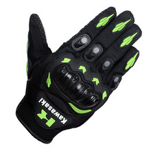 New arrival brand Kawasaki Motorcycle gloves retro Moto racing gloves Motocross full finger gloves Cycling glove M/L/XL/XXL