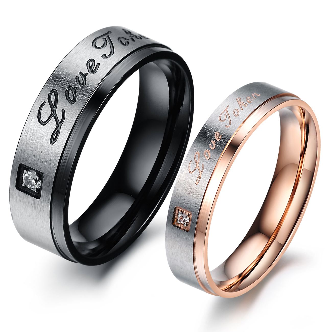 Brushed titanium ring lovers ring accessories finger ring N416(China (Mainland))