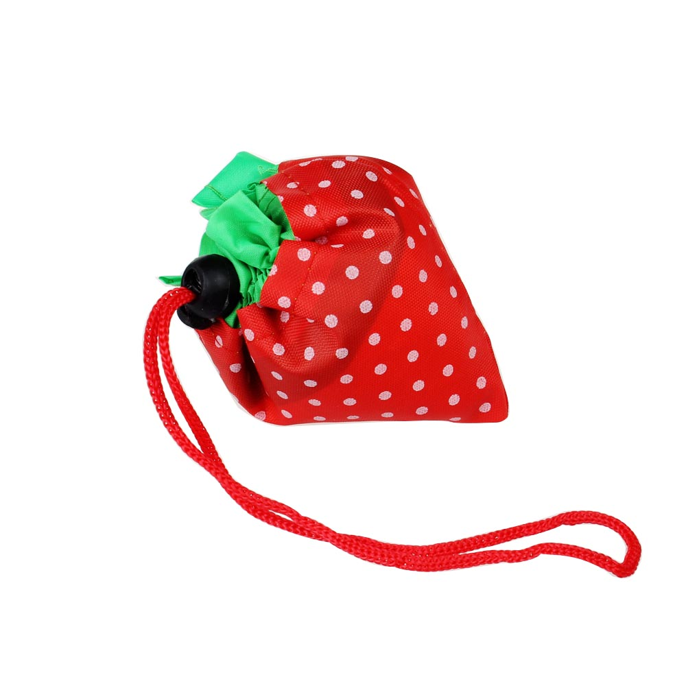 Strawberry Reusable Folding Fold Recycle Use Shoulder Tote Shopping Bag Random Color - LT Milliongadgets Shop store