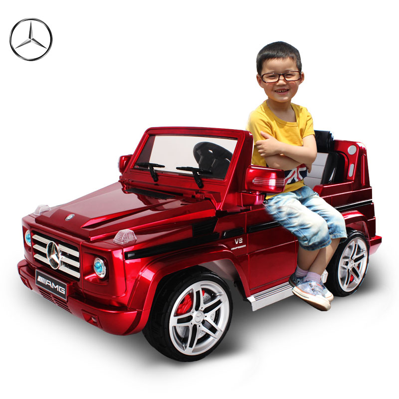 Kids ride on electric cars benz g55 amg 1 4 wheel Motorized kids toys