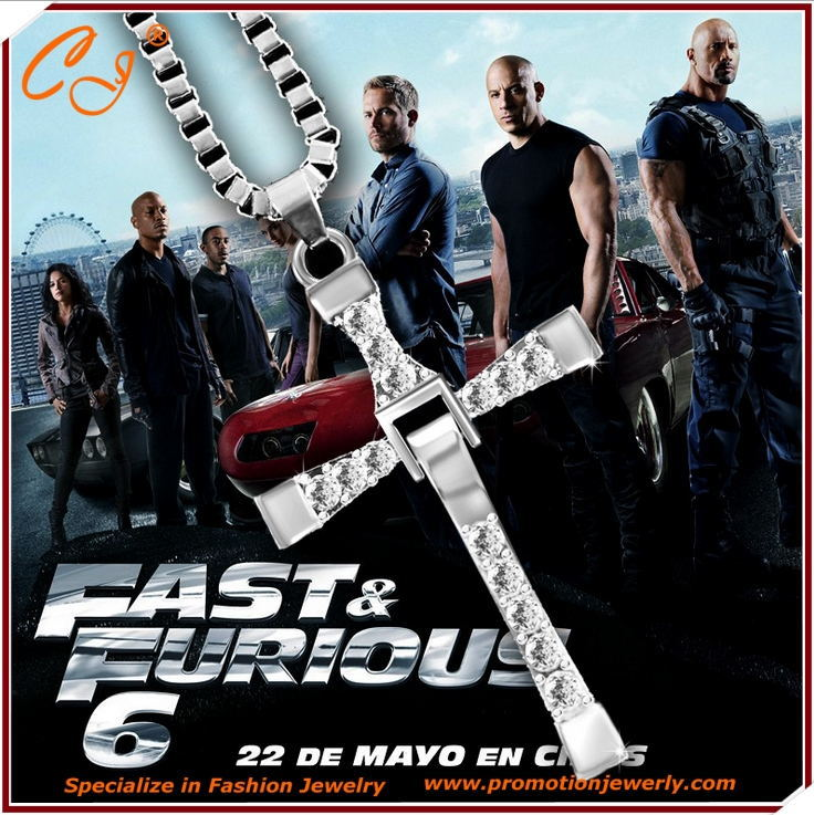 The Fast and Furious Necklace Men Pendant Necklace Actor Toledo, Men's Cross Necklace(China (Mainland))