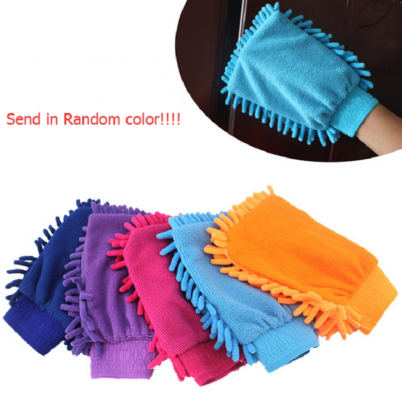 45G/pc high quality microfiber car cleaning glove Ultrafine Fiber Chenille wash towel auto brush tools washer cleaner products(China (Mainland))