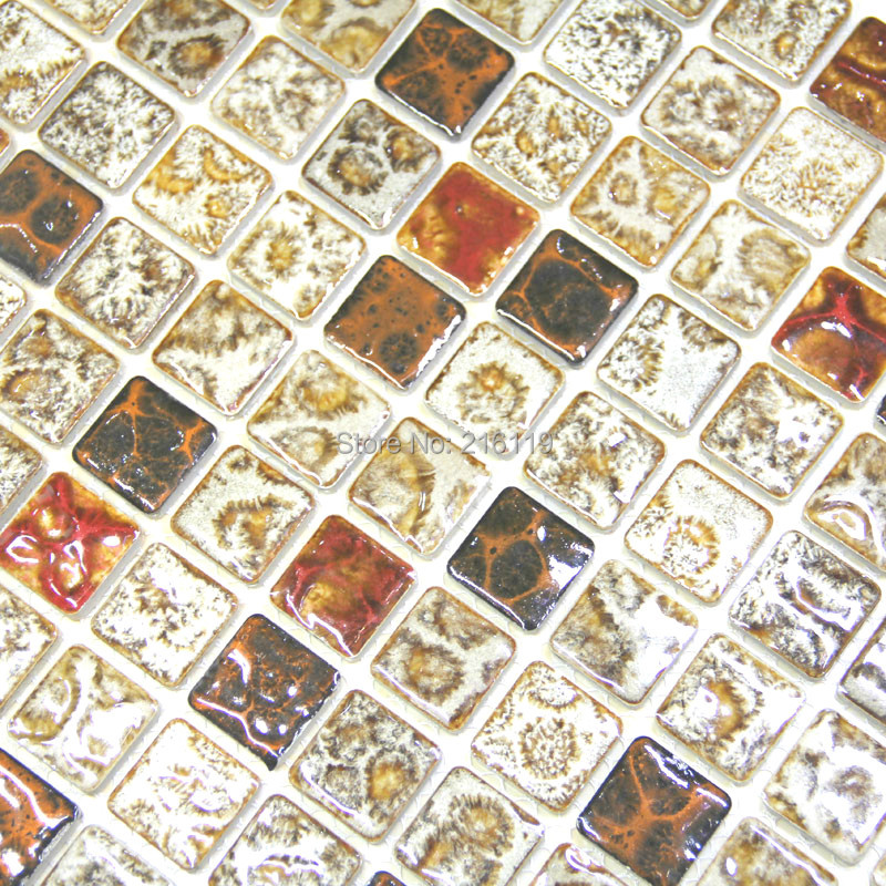 Buy Jmy 22 Pieces Lot Fashion Vintage Gruond Ceramic Mosaic Tile Fireplace Background Wall