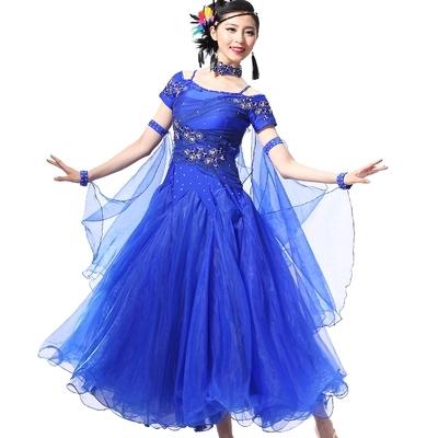 Stage &amp; Dance Wear Ballroom Modern Waltz Tango Sequin Dance Costume Womens Practice Wear Ladys Morden Dancerwear free shippingОдежда и ак�е��уары<br><br><br>Aliexpress