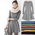 Fashion Clothes Vestidos Women Dress 2016 Spring Autumn Winter Dress Female 100 Cotton O Neck Long