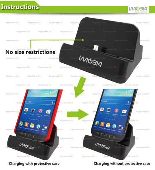 Universal Desktop Charging Cradle, Docking Station, Dock Charger Samsung Galaxy Note 4, 2,3, S4, S5 - Happiness go store