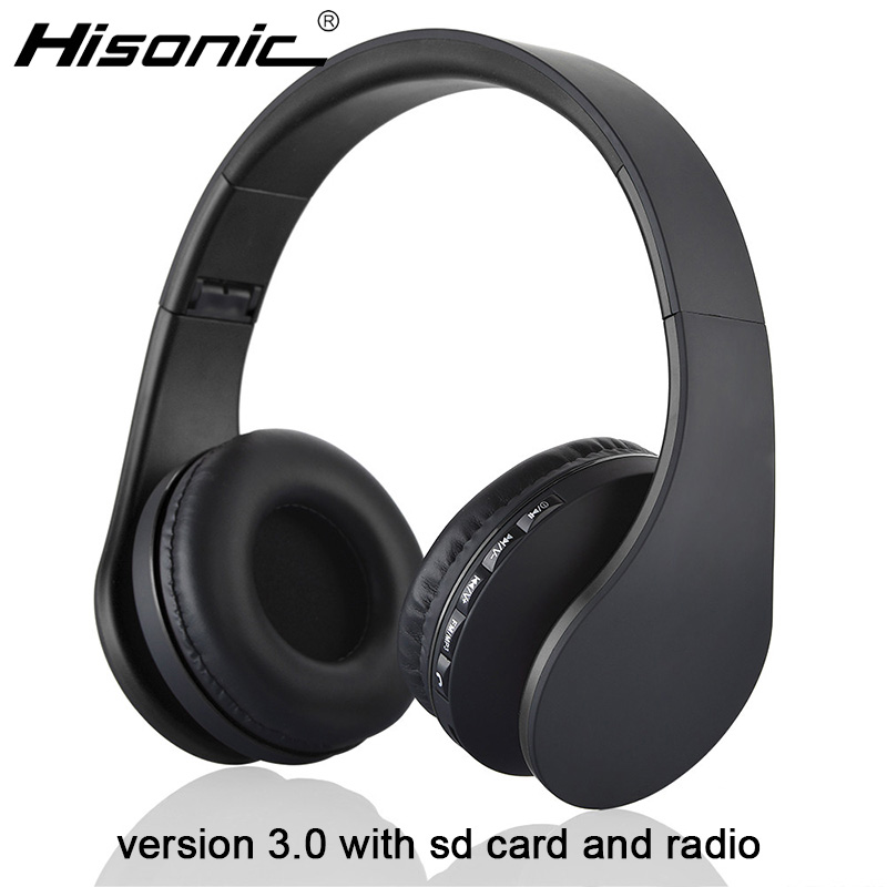 Hisonic Wireless Bluetooth Stereo Foldable Hisonic Headset Headphone Earphone Earbuds Handsfree Microphone casque audio(China (Mainland))
