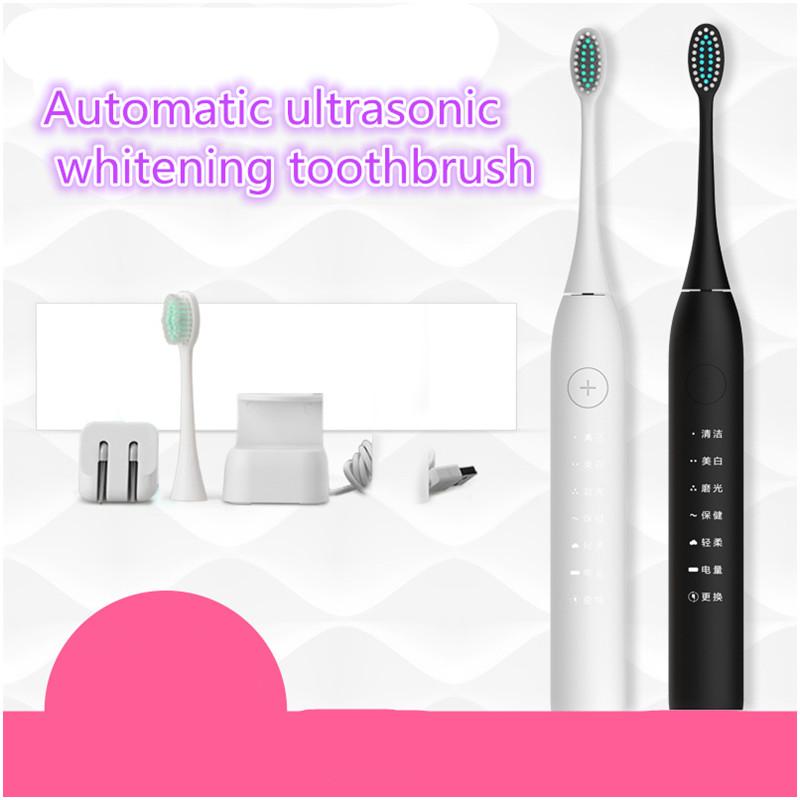 Moda Onda Sonora escova de Dentes Elétrica Tipo de Carga Super À Prova D' Água de Carregamento Inteligente Automático Clareamento Dos Dentes Higiene Oral