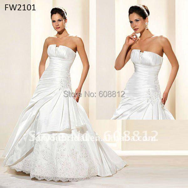 Fw2101 2012 рукавов длиной до пола атласная дизайнер свадебные платья
