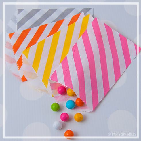 3000 PIECES Best selling Chevron/striped/Dot Food Treat & Favor Paper Bags for Wedding Baby shower Party(China (Mainland))