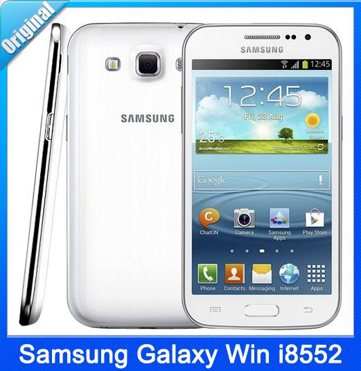 Original Phone Samsung Galaxy Win I8552 Android 4.1 ROM 4GB WiFi Quad Core Unlocked Cell Phone 4.7'' Refurbished(China (Mainland))