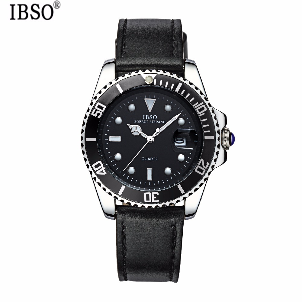 IBSO Outdoor Mens Watches Top Brand Luxury Complete Calendar Multifunction Mens Watches Genuine Leather Strap Reloj Hombre PI14<br><br>Aliexpress