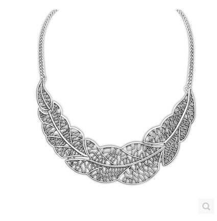 Гаджет  Contracted hollow out the leaves necklace Metal sweater chain female Collarbone chain xl 050 None Ювелирные изделия и часы