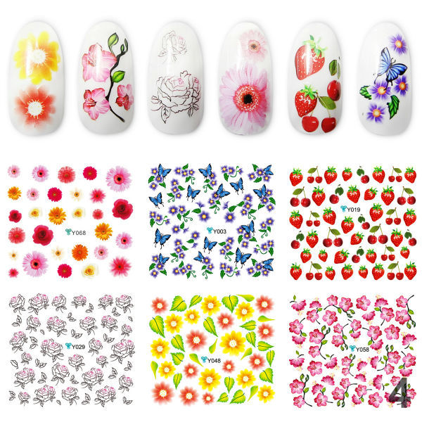 Water Stickers Fashion DIY Nail Art Special Design Manicure Decoration - Yao Shun Store store