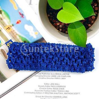 Free Shipping 1.5 Inch Elastic Baby Toddler Girls Crochet Headband - Royal Blue