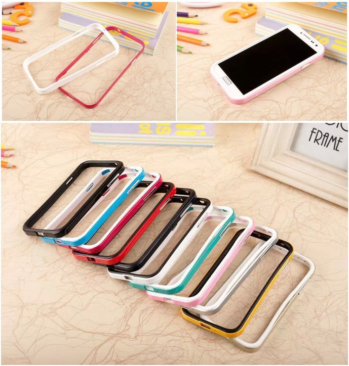SGP NEO Hybrid EX series colorful Bumper 2 in 1 Silicone + Plastic frame Case For Samsung Galaxy S4 i9500 S5 I9600, free ship(China (Mainland))