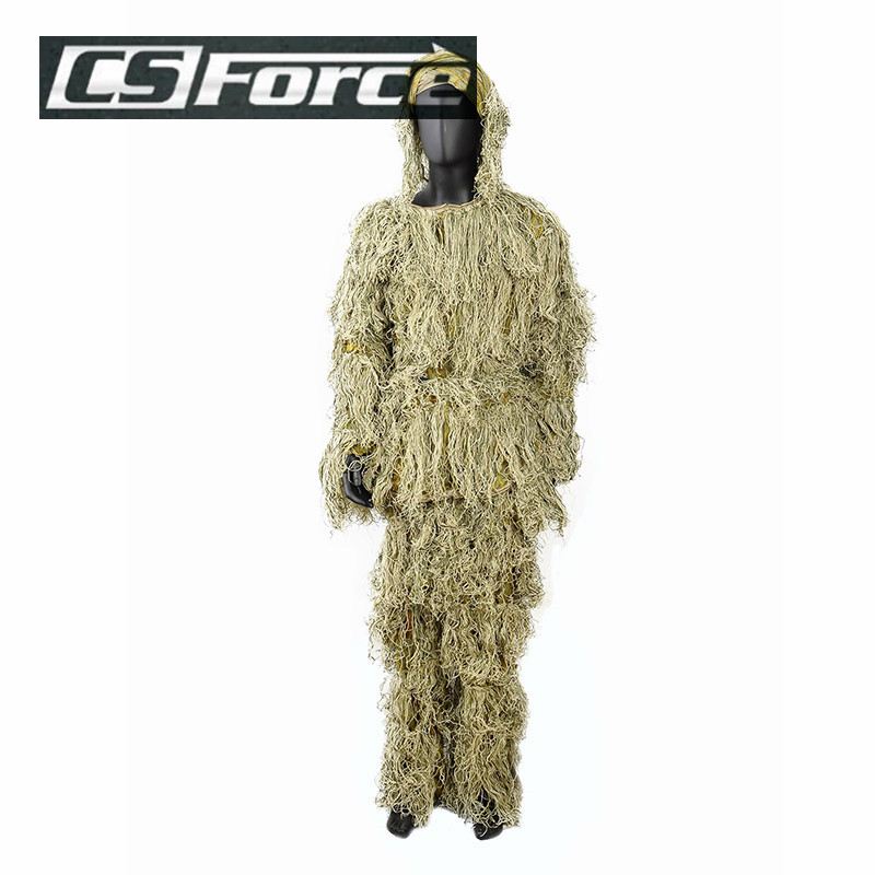 3D Tactical Ghillie Suit Sniper Camo Camouflage Hunting Yowie Uniform Paintball Woodland Training Suit Military Combat Clothes <br>