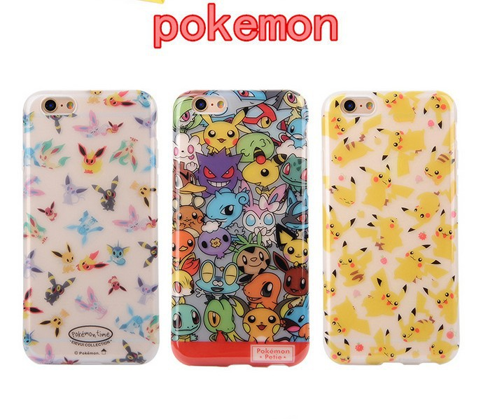Mobile games Pokemon Go Team peluche pokemon protection Hard case cover for Iphone 6 6S 6 Plus