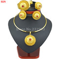 Ethiopian color stone sets 24k Gold plated sets for African Ethiopian Eritrean women jewelry sets