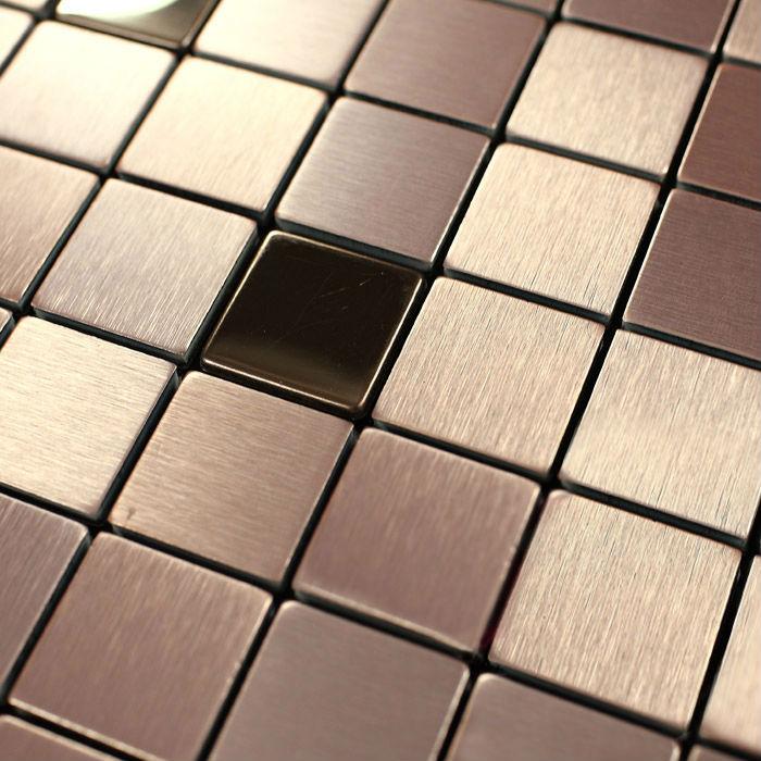 Metallic Mosaic Tile Sheets Plastic Aluminium Effect Paper