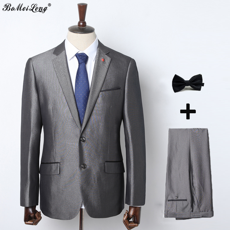 2015 New Arrival Business Suit Jacket Mens Luxury Casual Wedding Suits Classic Groom Suit ( Blazer + Pants) For Men Gray TuxedoОдежда и ак�е��уары<br><br><br>Aliexpress
