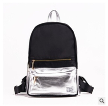 2016 New Brand Patchwork Oxford School Bags Fashion College School Bagpack Ladies Mochila Casual Travel Women Backpack  40A1532(China (Mainland))