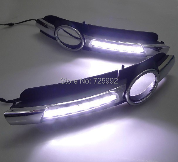 lighted LED DRL Daytime Running Light 6000K-7000K A6 2005 2006 2007 2008 , EMS - RUI JIAN Automotive lighting store