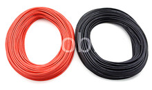 1 METER Red+ 1 METER Black 12AWG 14AWG 16AWG 22AWG 24AWG Heatproof Soft Silicone Wire Cable For RC Model Battery Part(China (Mainland))