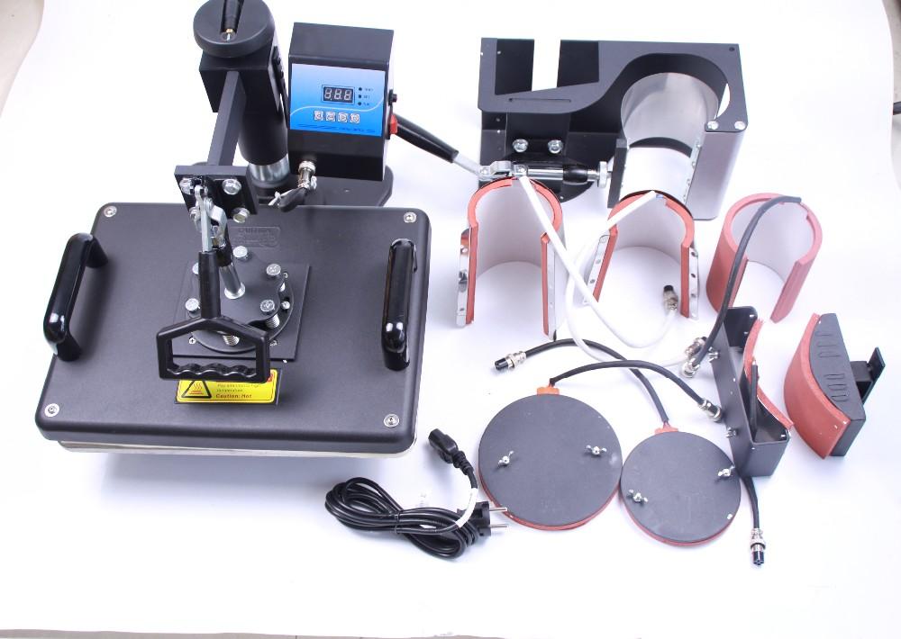 Купить 7 в 1 комбинированная машина передачи тепла 7in1 Сублимации Машина для кружка футболки закрывающей пластины печать 110 В/220 В
