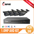 KEEPER 4CH CCTV System 720P 1080N DVR 4PCS 1 0MP Weatherproof Outdoor CCTV Camera Home Security